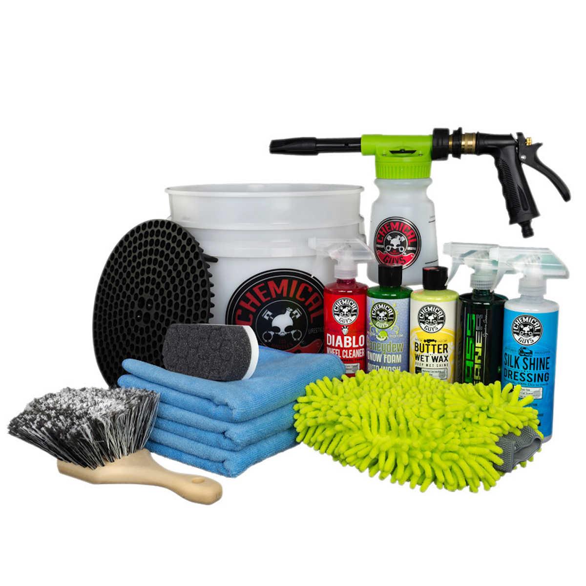 wash wax costco chemical guys 13 piece car wash bucket with torq foam blaster