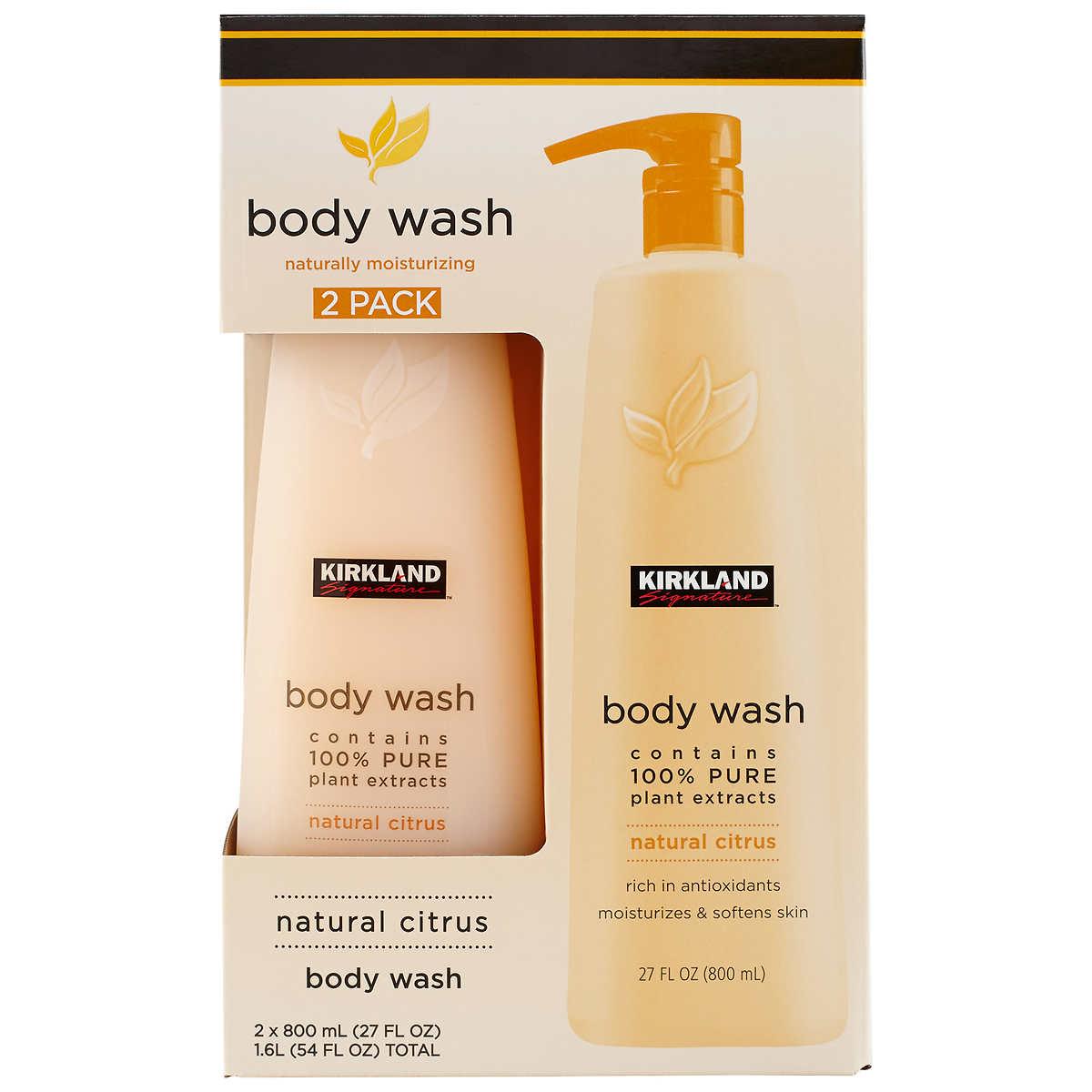 kirkland signature natural citrus body wash 2 pack 27 fl oz each