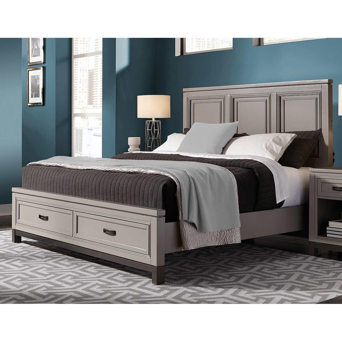Bedroom Furniture Queen Storage Bed queen beds | costco