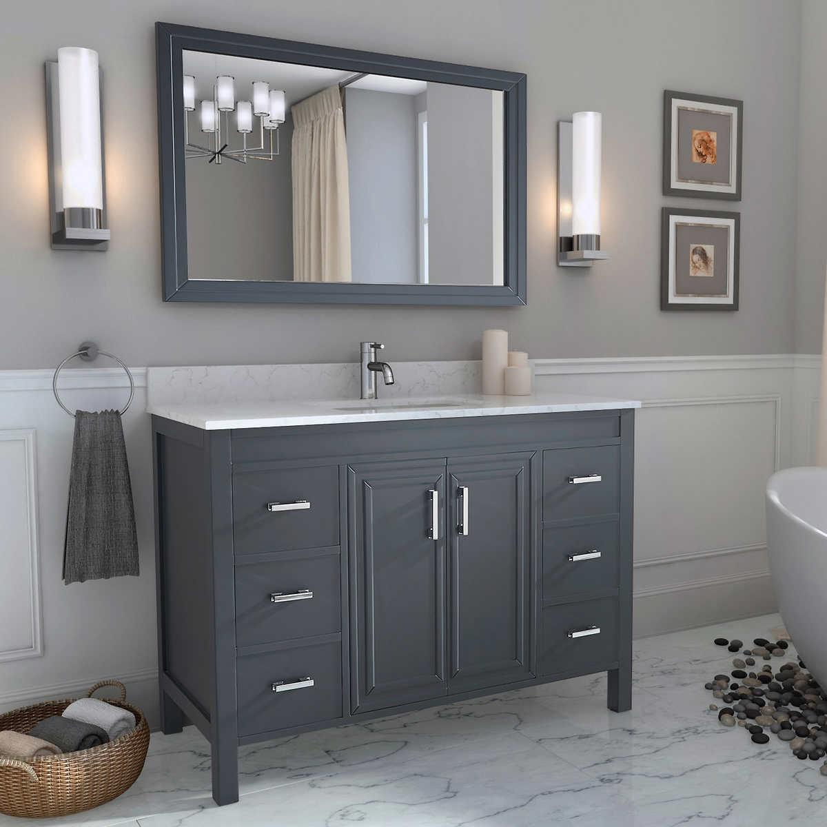 Bathroom Cabinets Gray vanities | costco
