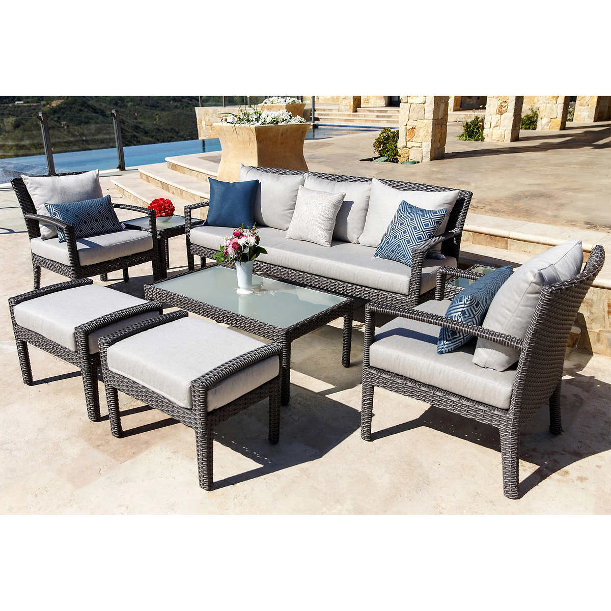 Patio Furniture Pictures seating sets | costco