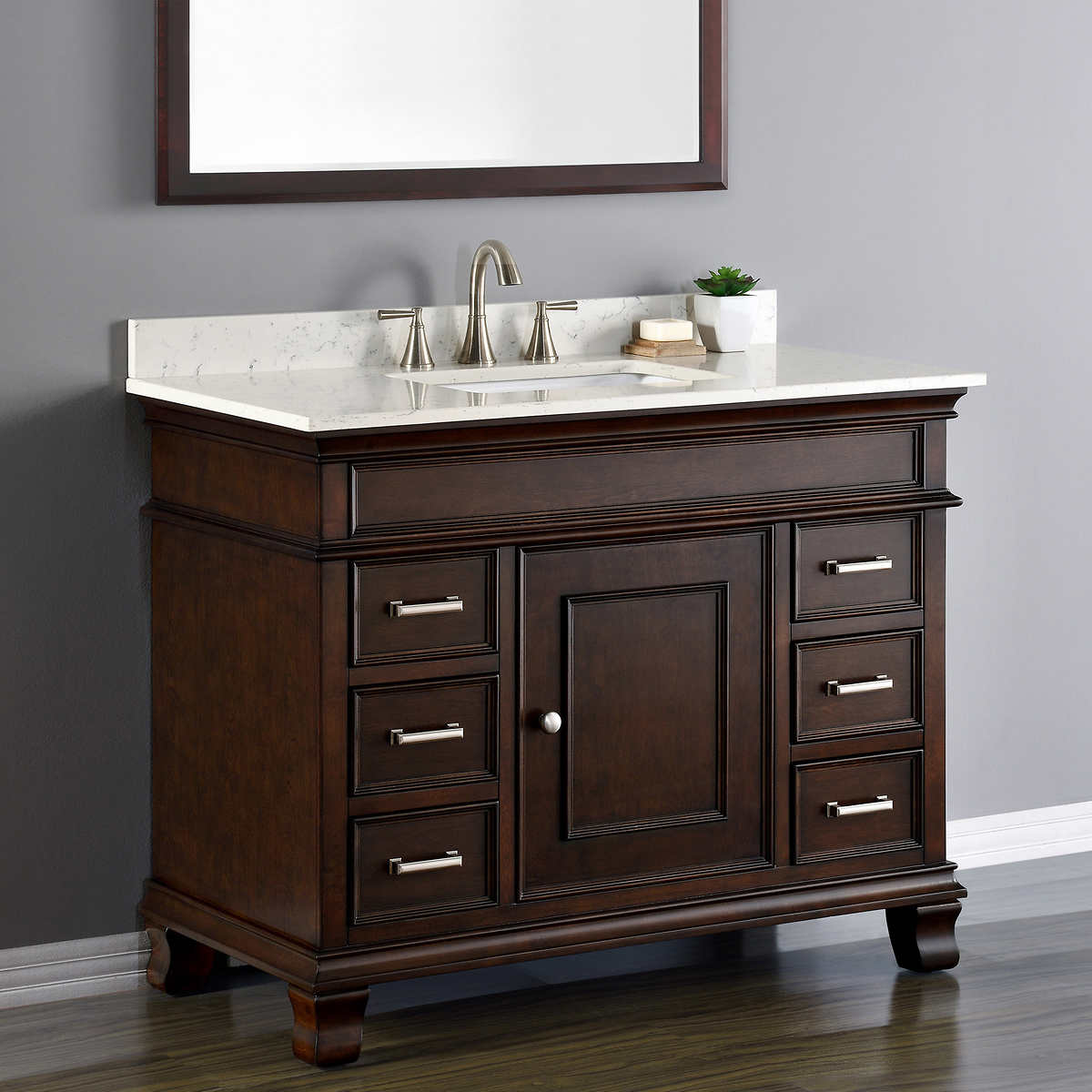 42 Inch Bathroom Vanity Vanities  Costco