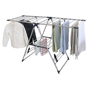 costco clothes rack greenway home products 174 x large stainless steel fold away 14092