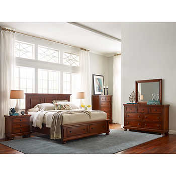 costco king bedroom set walden 6 king storage bedroom set 15023