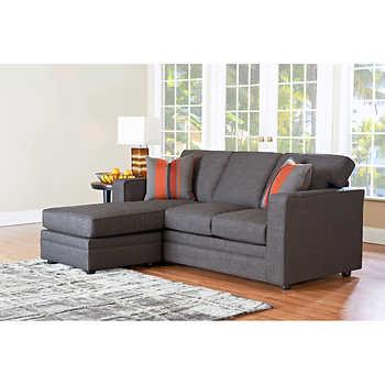 Beeson Fabric Queen Sleeper Chaise Sofa