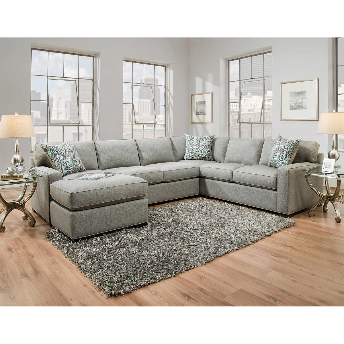 Two Loveseats In Living Room Fabric Sofas Sectionals