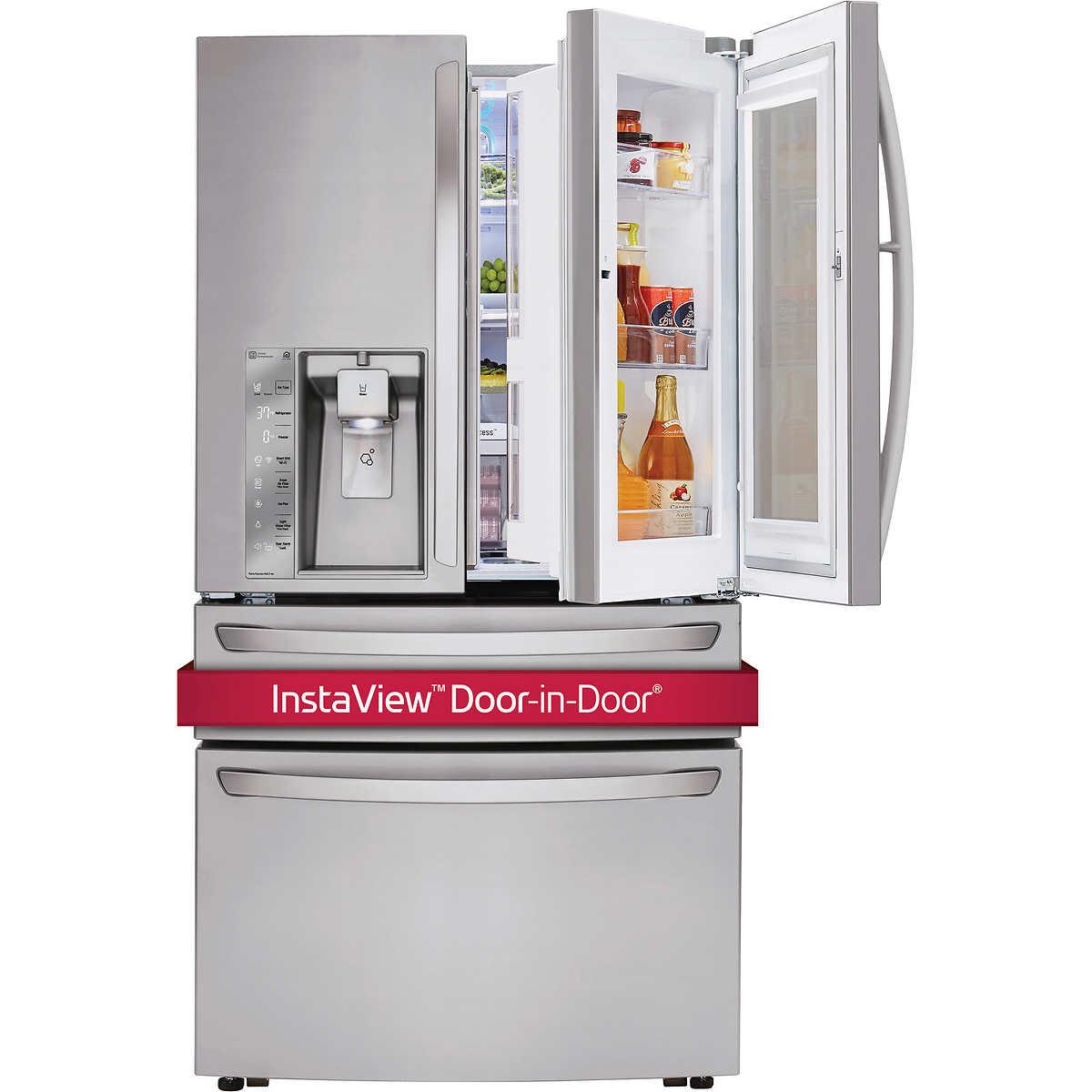 LG 30CuFt 4-Door French Door InstaView Refrigerator with Door-in-Door in