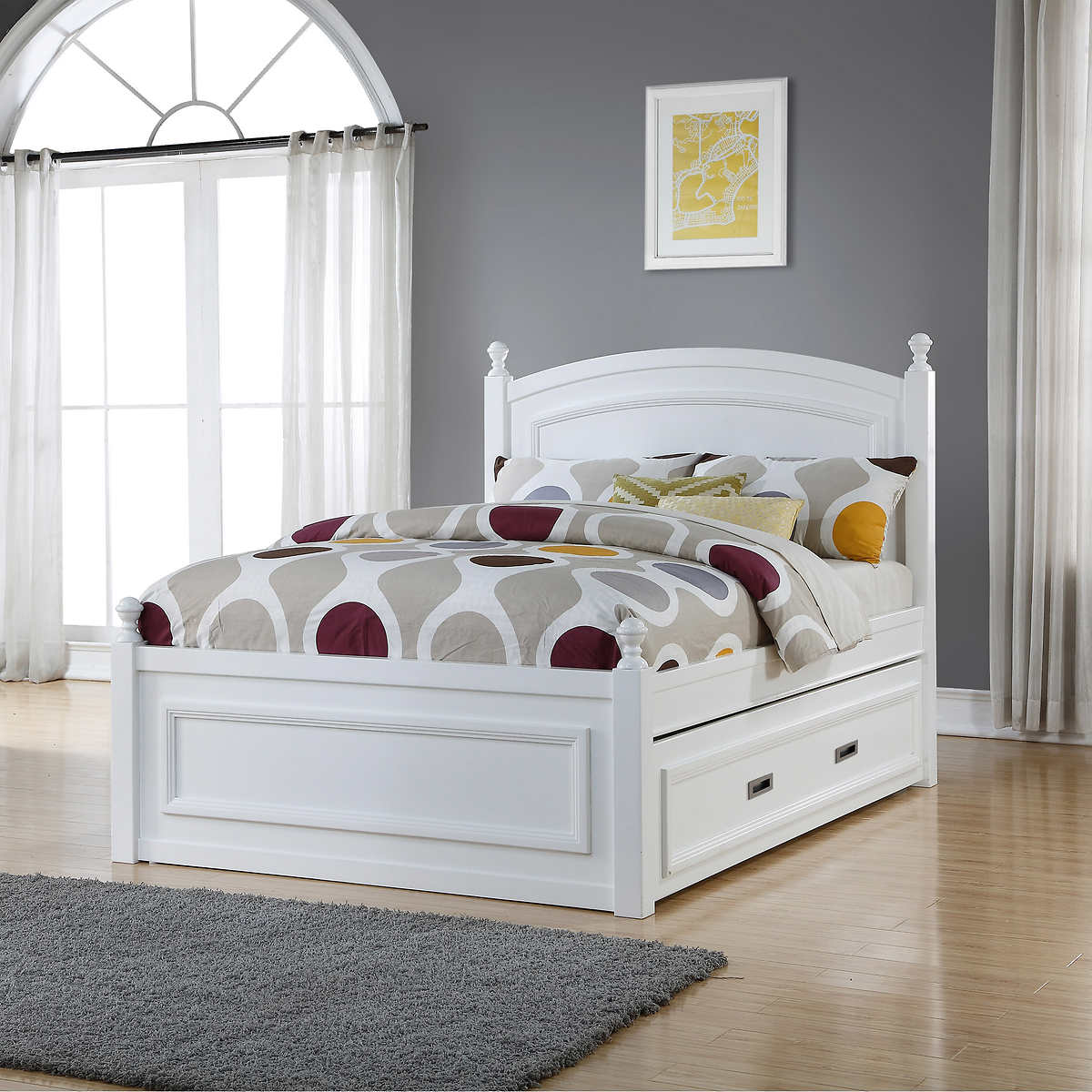 beds  costco - hailey full bed with trundle