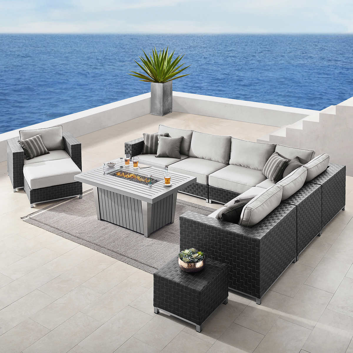 Soho 10-piece Seating with Fire by Sirio - Seating Sets