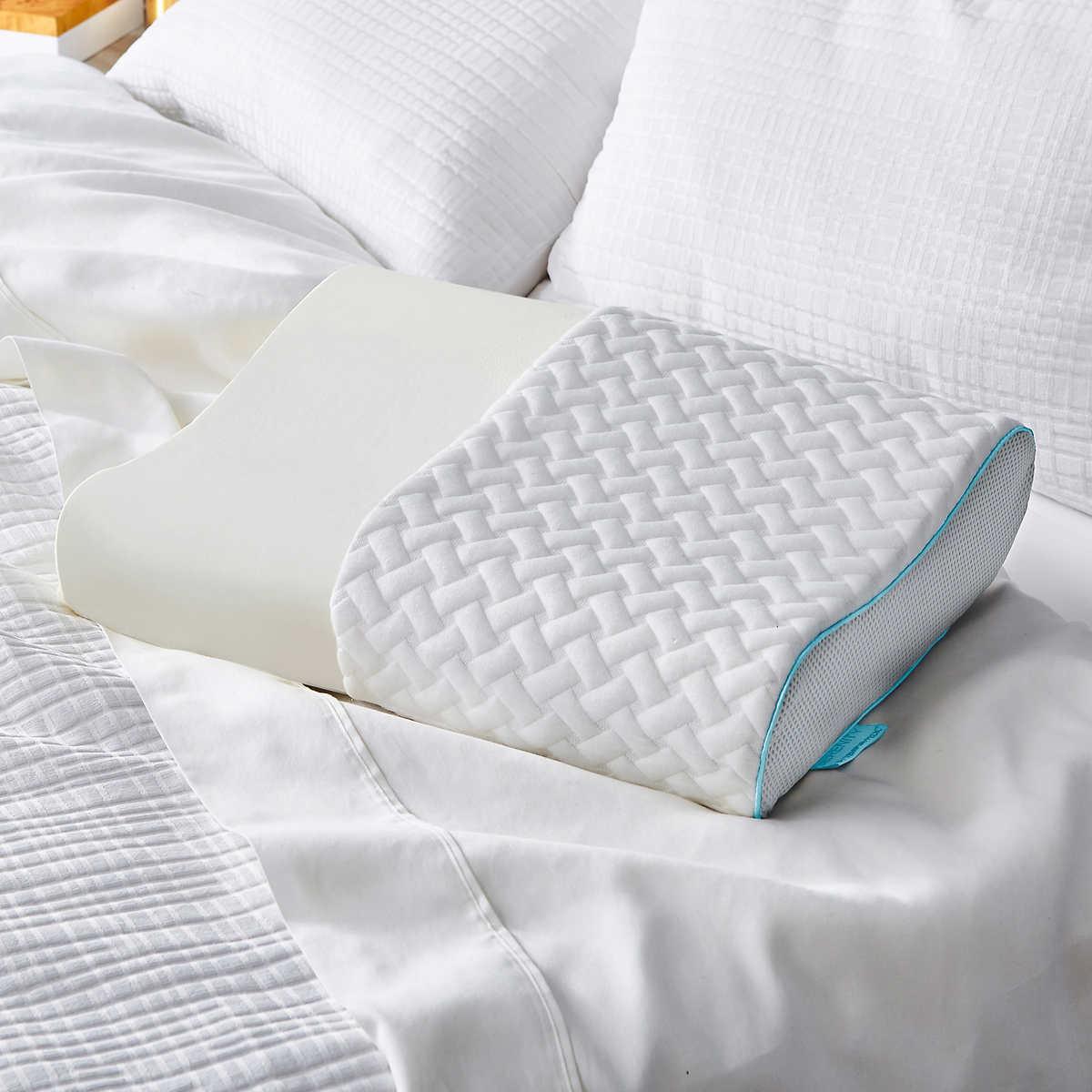 best service ece08 8776b Details about Serenity by Tempur-Pedic Contour Memory Foam Pillow Machine  Washable Cover