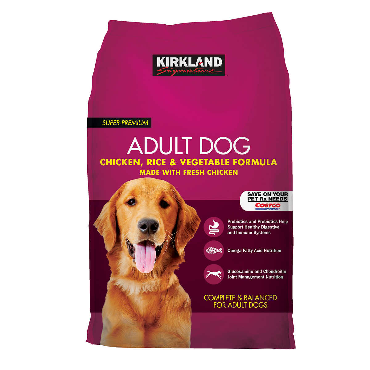 1 1. Kirkland Signature Adult Formula Chicken  Rice and Vegetable Dog