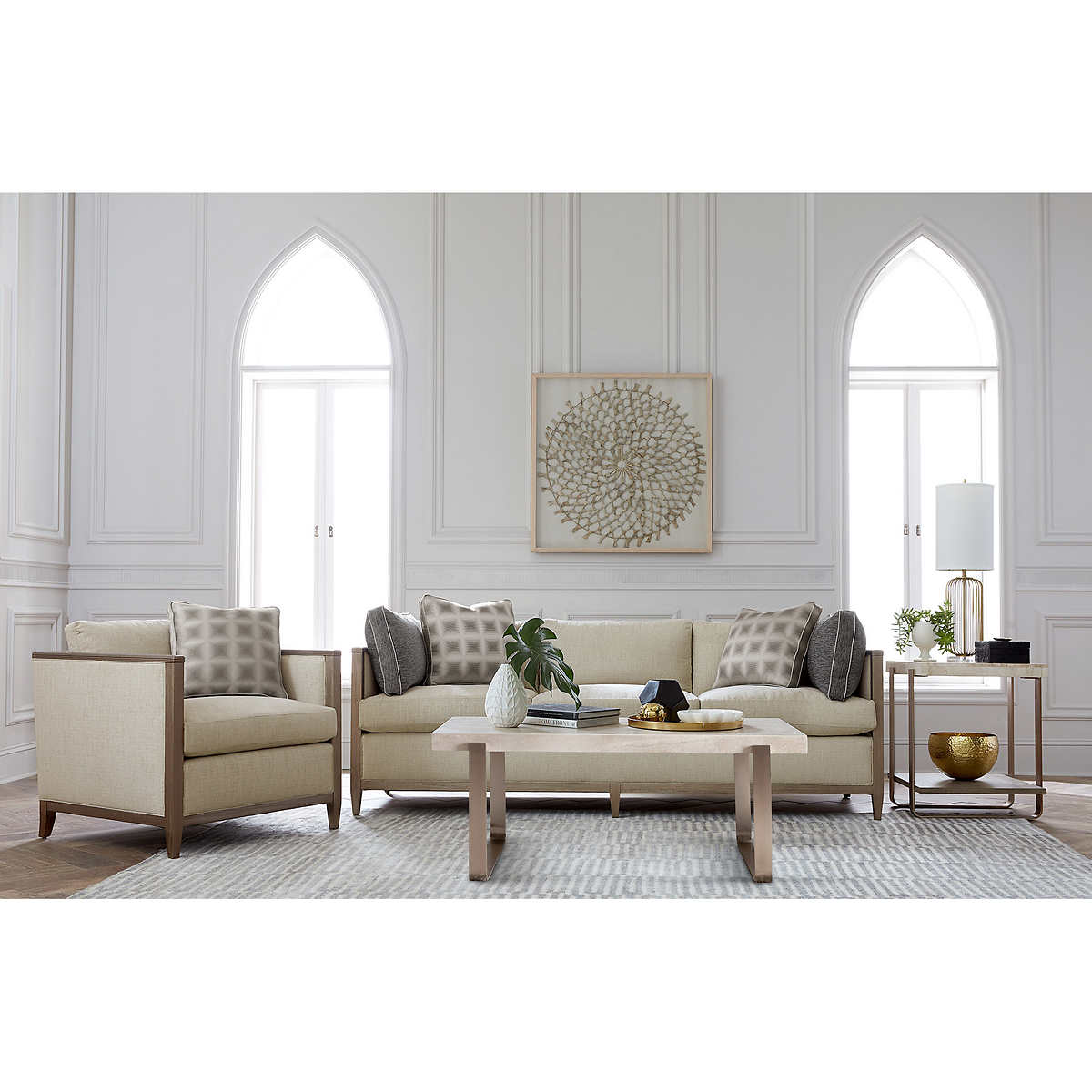 Fabric Sofas   Sectionals   Costco Carlson 4 piece Fabric Living Room Set. Costco Living Room. Home Design Ideas