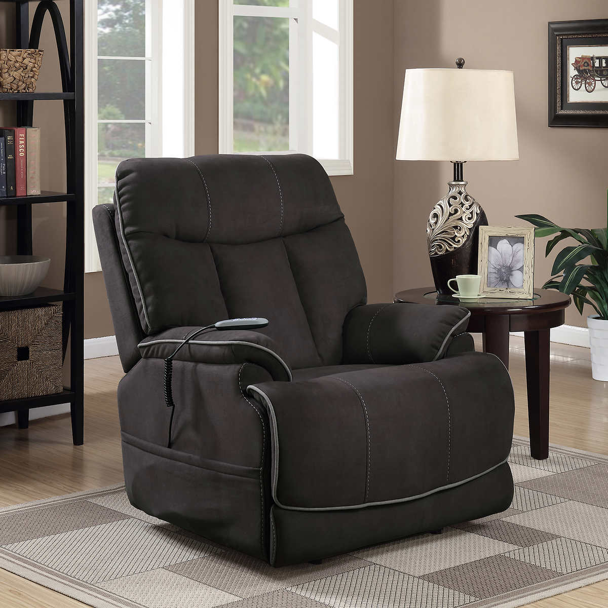 lane costco massage and heat lift chairs power leather recliners recliner