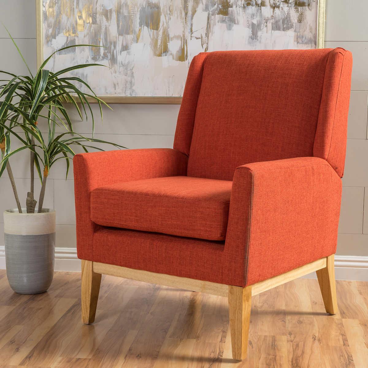 crosby fabric accent chair orange - crosby fabric accent chair orange item  click to zoom