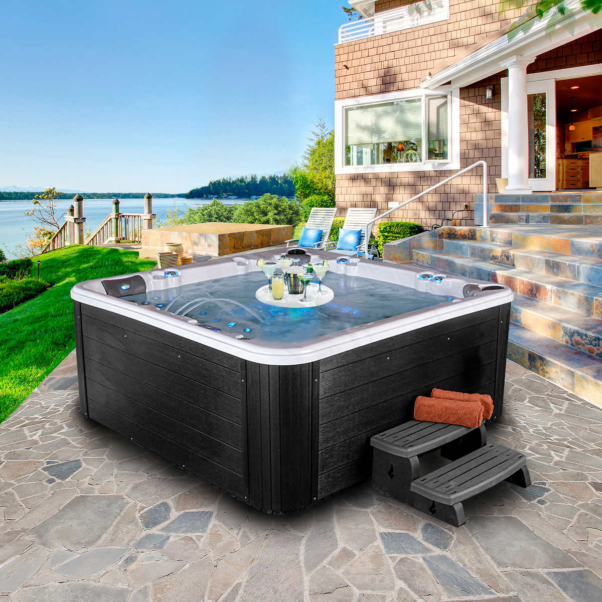 tubs ca sale spa for sales corona max min tub hot