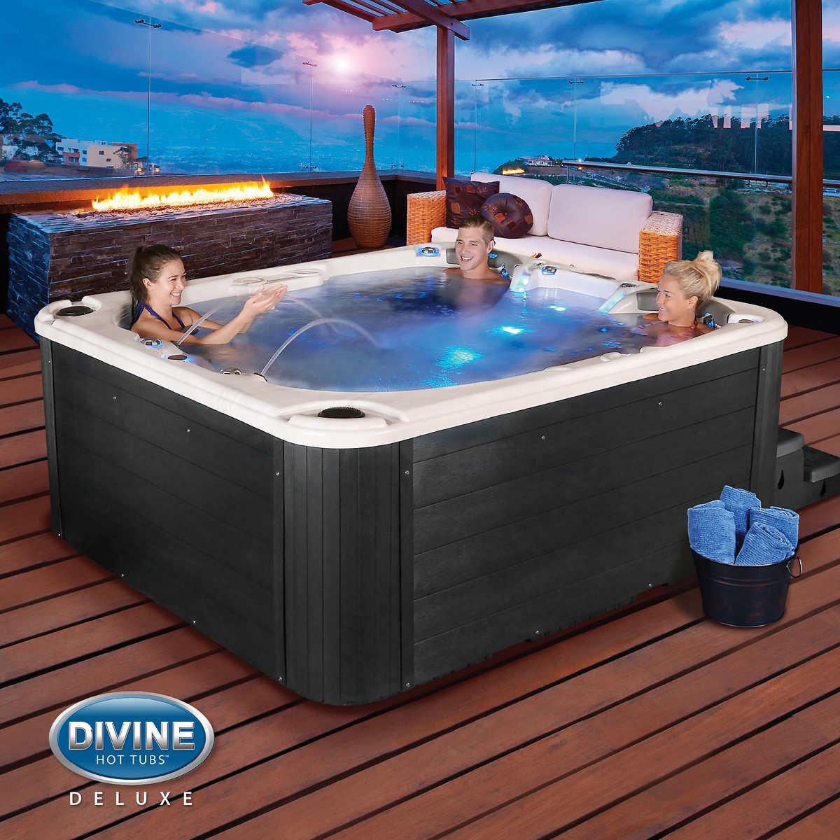 Divine Hot Tubs Portage 100-jet, 4-person Spa