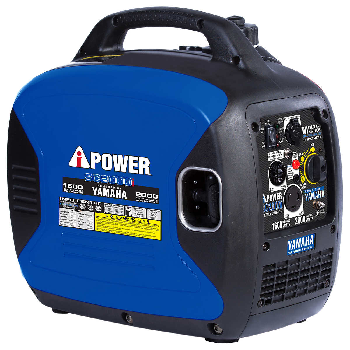 A i power yamaha 2000w gas inverter generator 1600w for Yamaha generator 2000