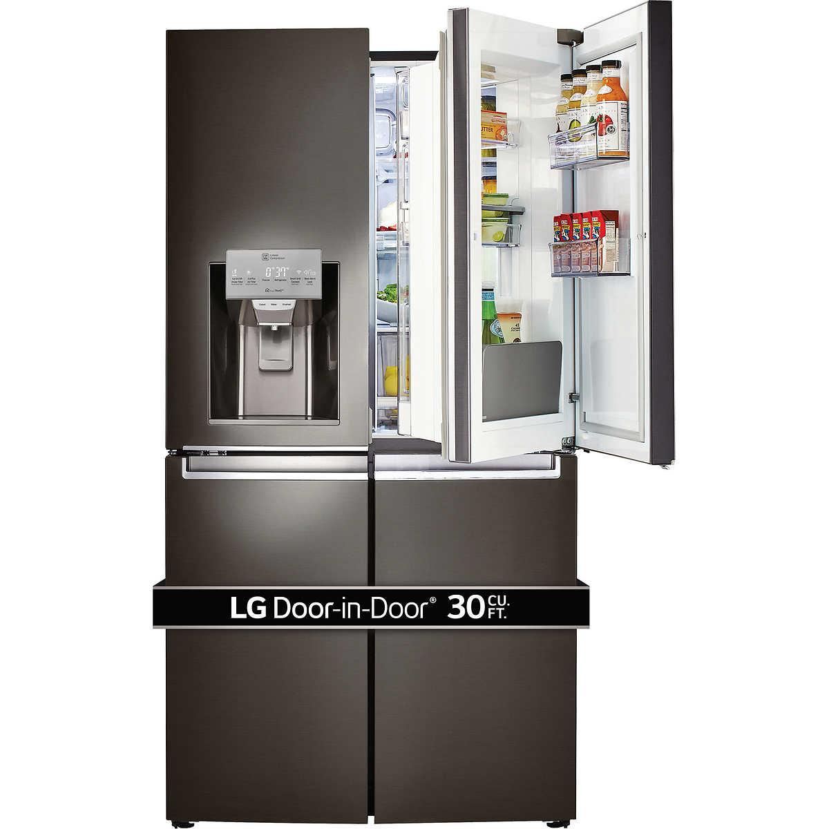 Lg 30cuft 4 door french door refrigerator with double door in door 1 1 rubansaba