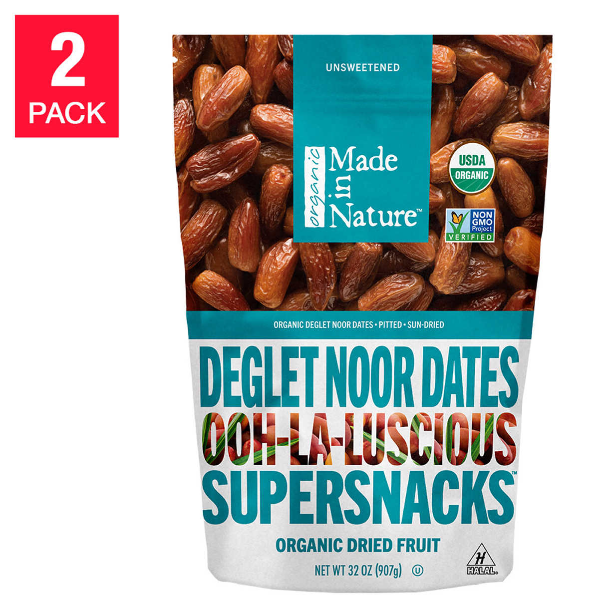 Made In Nature Organic Dried Fruit 1 oz, 72-pack