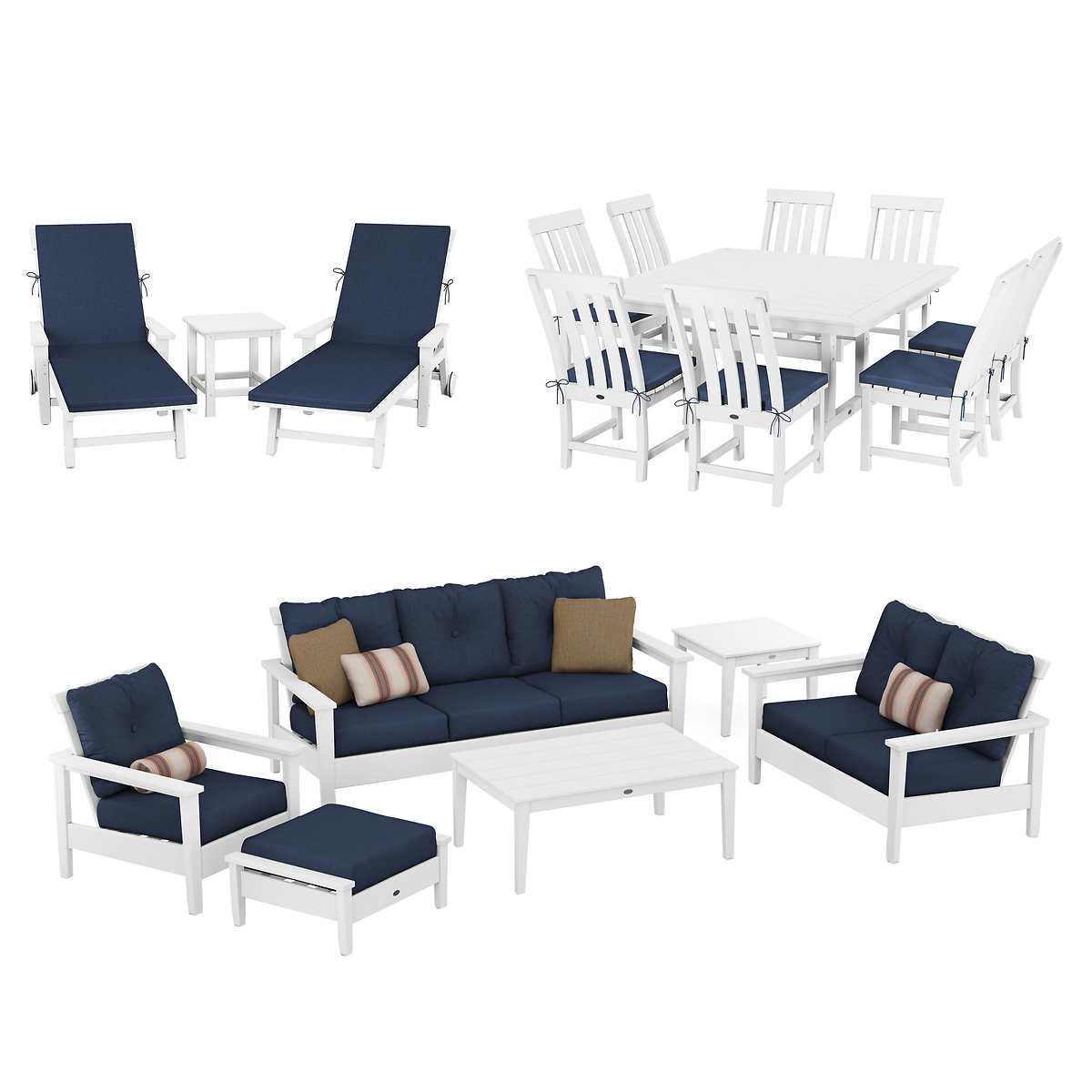 Prescott 18-piece Estate Collection by POLYWOOD - Seating Sets Costco