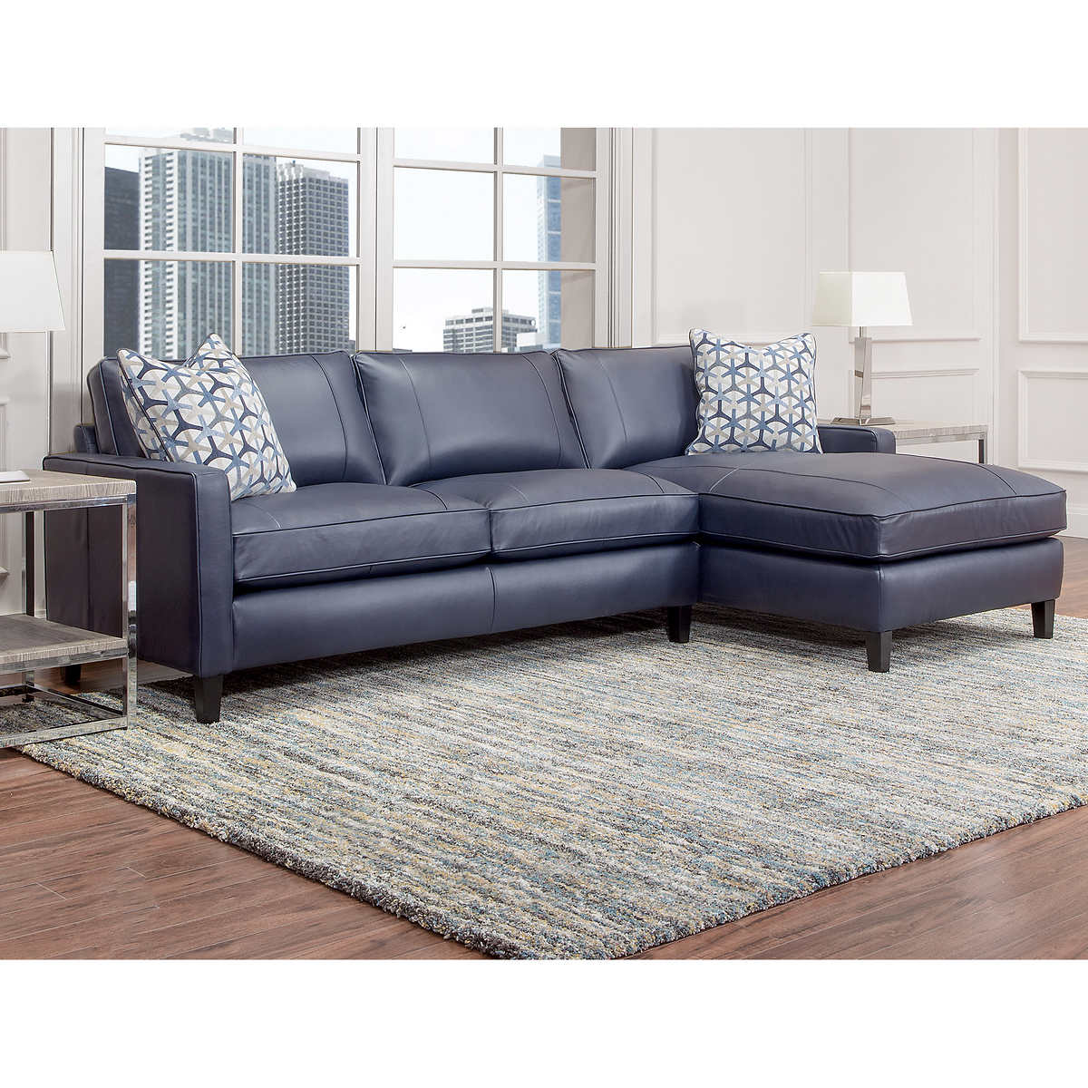 Navy Blue Leather Sofa And Loveseat Thesofa