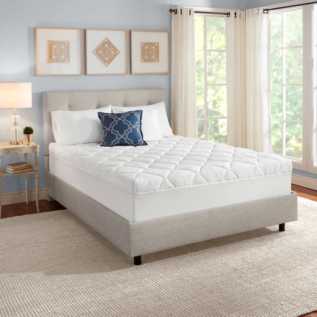 "Novaform 3"" Serafina Pearl Gel-Memory Foam Mattress Topper"
