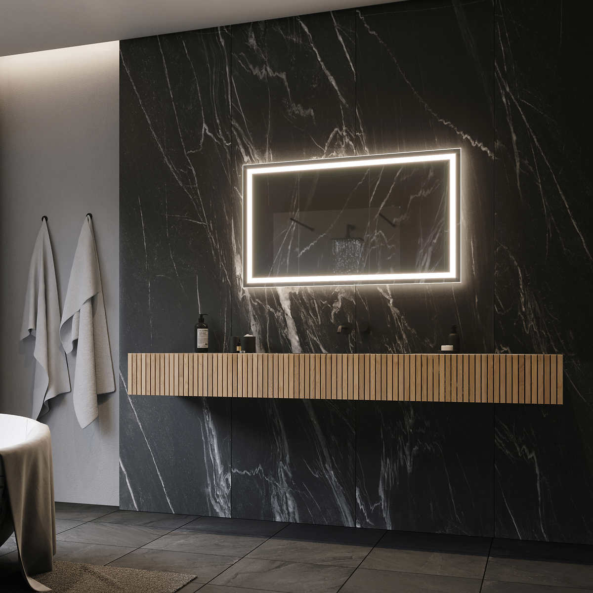 Illuminated Led Mirror 48 X24 By Suite Mirror