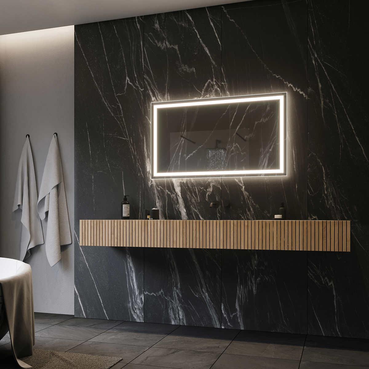 Costco bathroom lighting - Illuminated Led Mirror 48 X24 By Suite Mirror