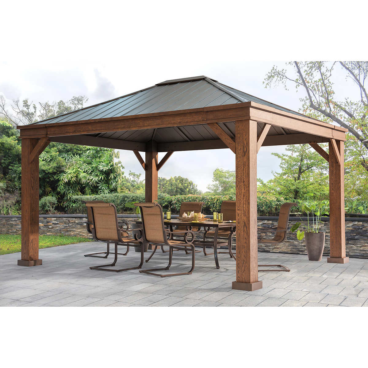 Out of Stock Adland Hardtop 12' x 14' Gazebo - Outdoor Structures