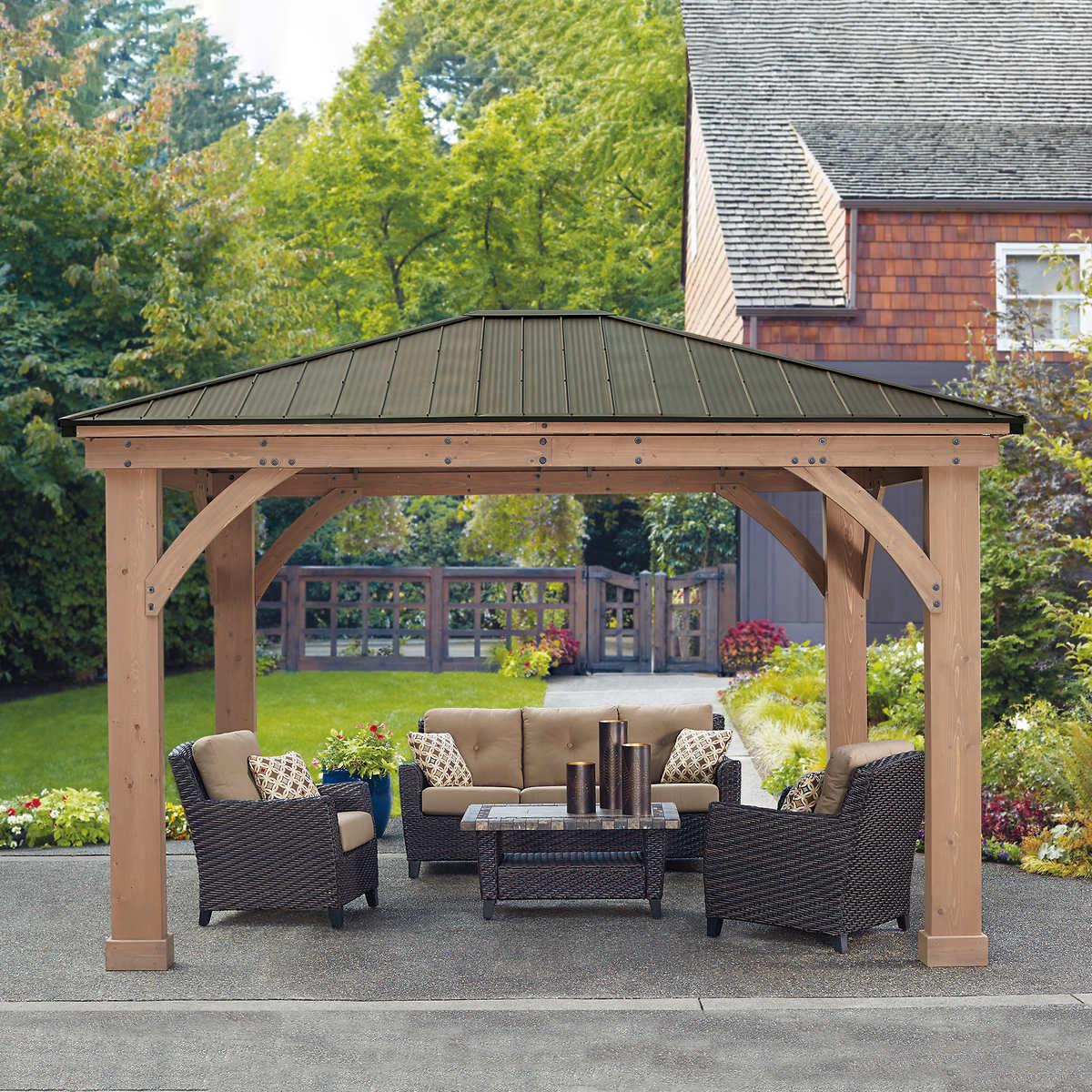 Gazebos | Costco Gartenpavillon Aus Aluminium
