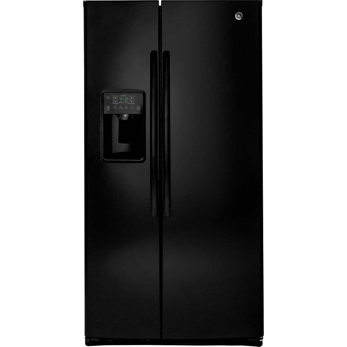 Ge Service Phone Number Ge 254 Cuft Side By Side Refrigerator In Black