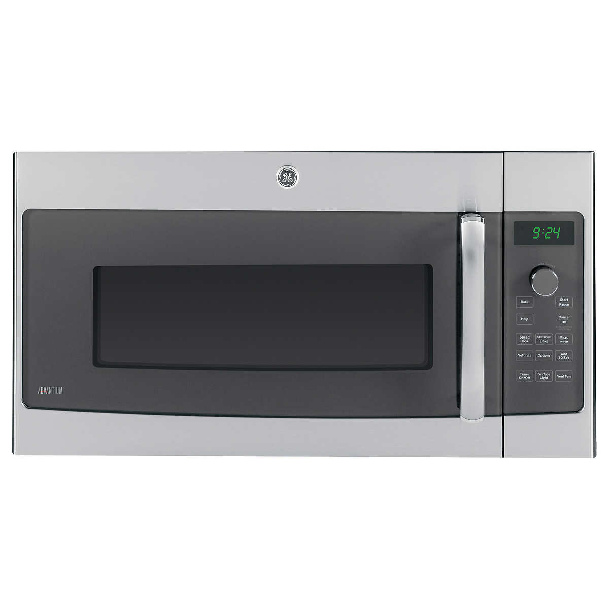 Ge 1 7 Cuft Over The Range Microwave Oven With Advantium Technology In Stainless Steel