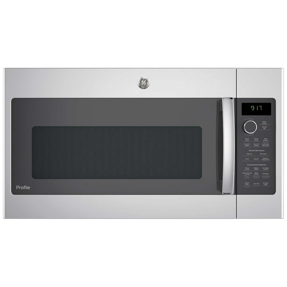 Ge Profile 1 7cuft Convection Over The Range Microwave Oven In Stainless Steel