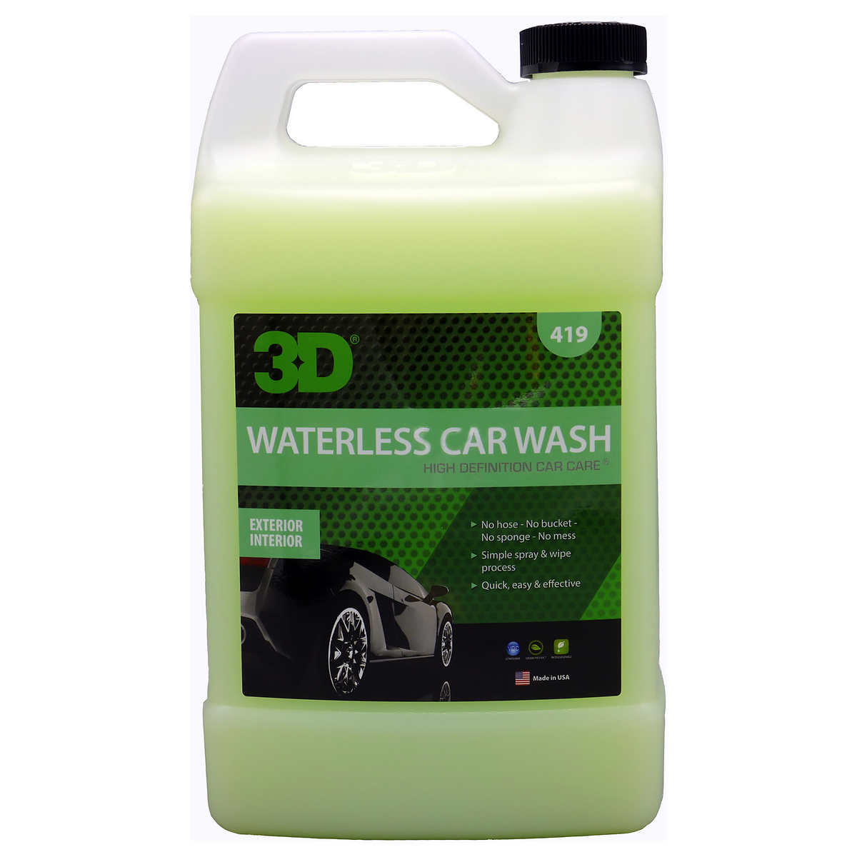 3d waterless car wash 1 gallon refill