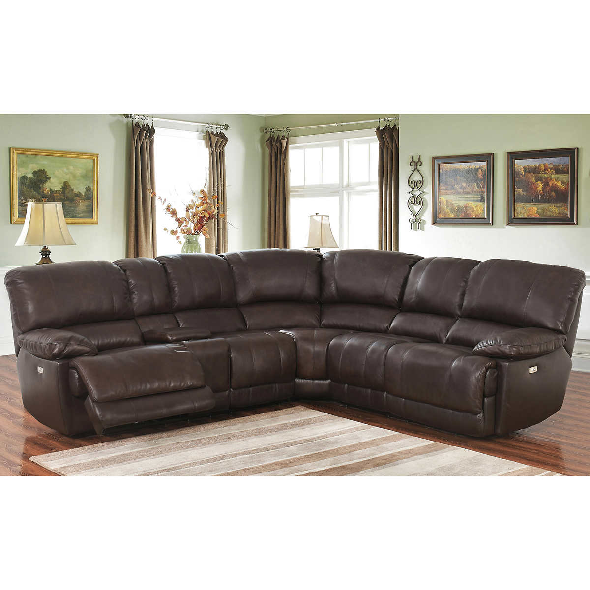 arleta top grain leather power reclining sectional. Interior Design Ideas. Home Design Ideas