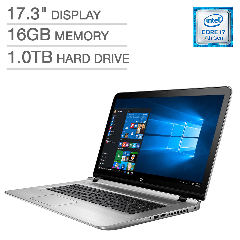 hp envy 17t 17 3 laptop intel core i7 7500u 16gb memory 1tb hdd w hdmi ebay. Black Bedroom Furniture Sets. Home Design Ideas