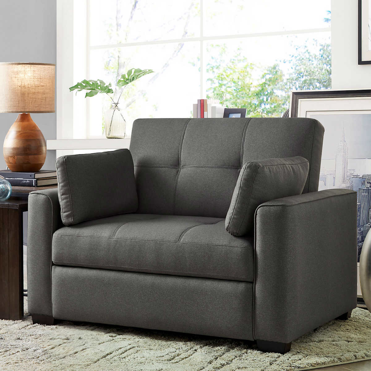 Chairs for living room furniture - Westport Fabric Sleeper Chair Heather Gray