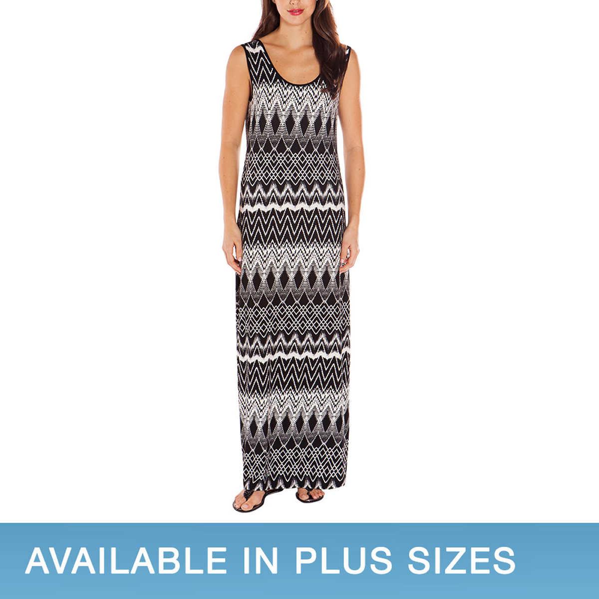Blue apron costco - Out Of Stock Mario Serrani Ladies Maxi Dress Black White Zig Zag Pattern