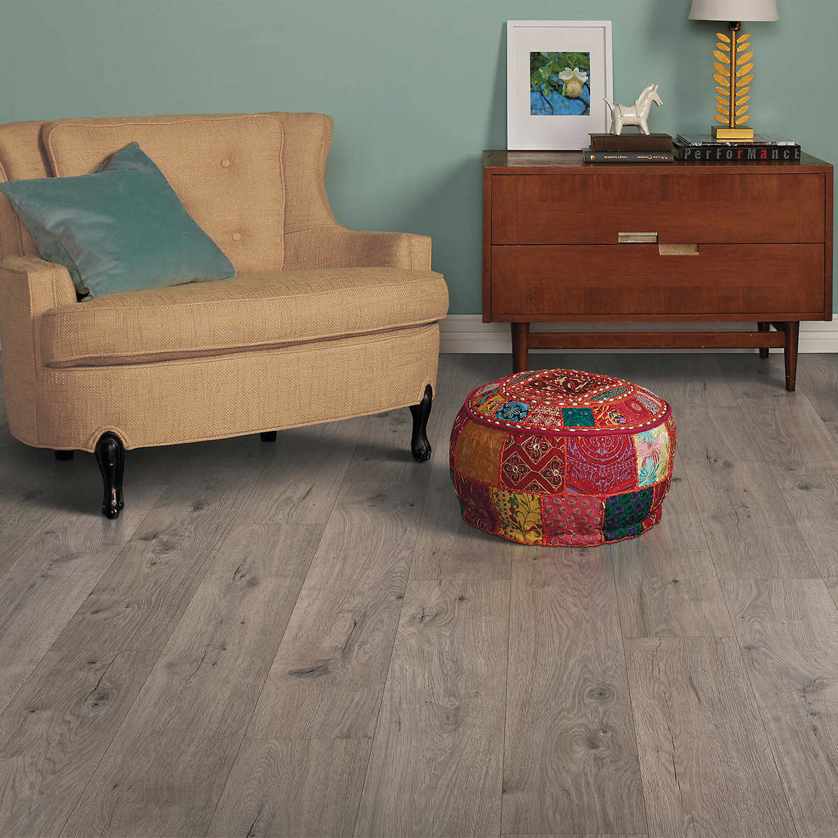 Member Only Item Harmonics Silverleaf Oak Laminate Flooring