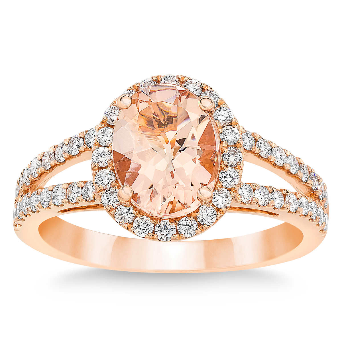 e4e2ebcd21ee0 Morganite and Diamond 14kt Rose Gold Ring