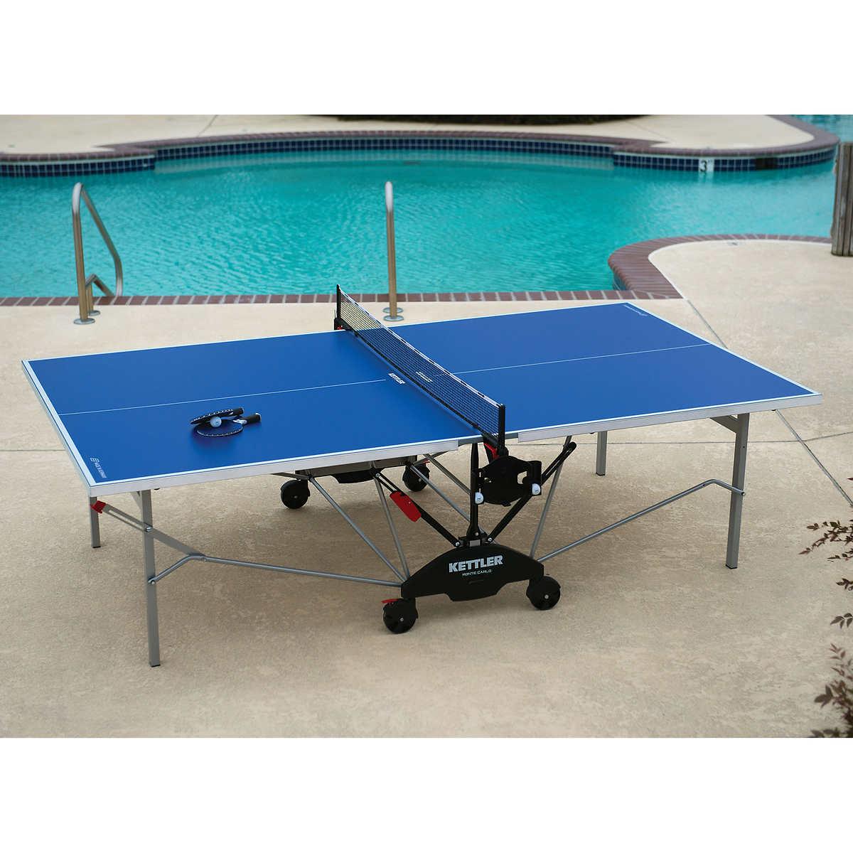 Member Only Item Kettler Monte Carlo Outdoor Table Tennis Bundle