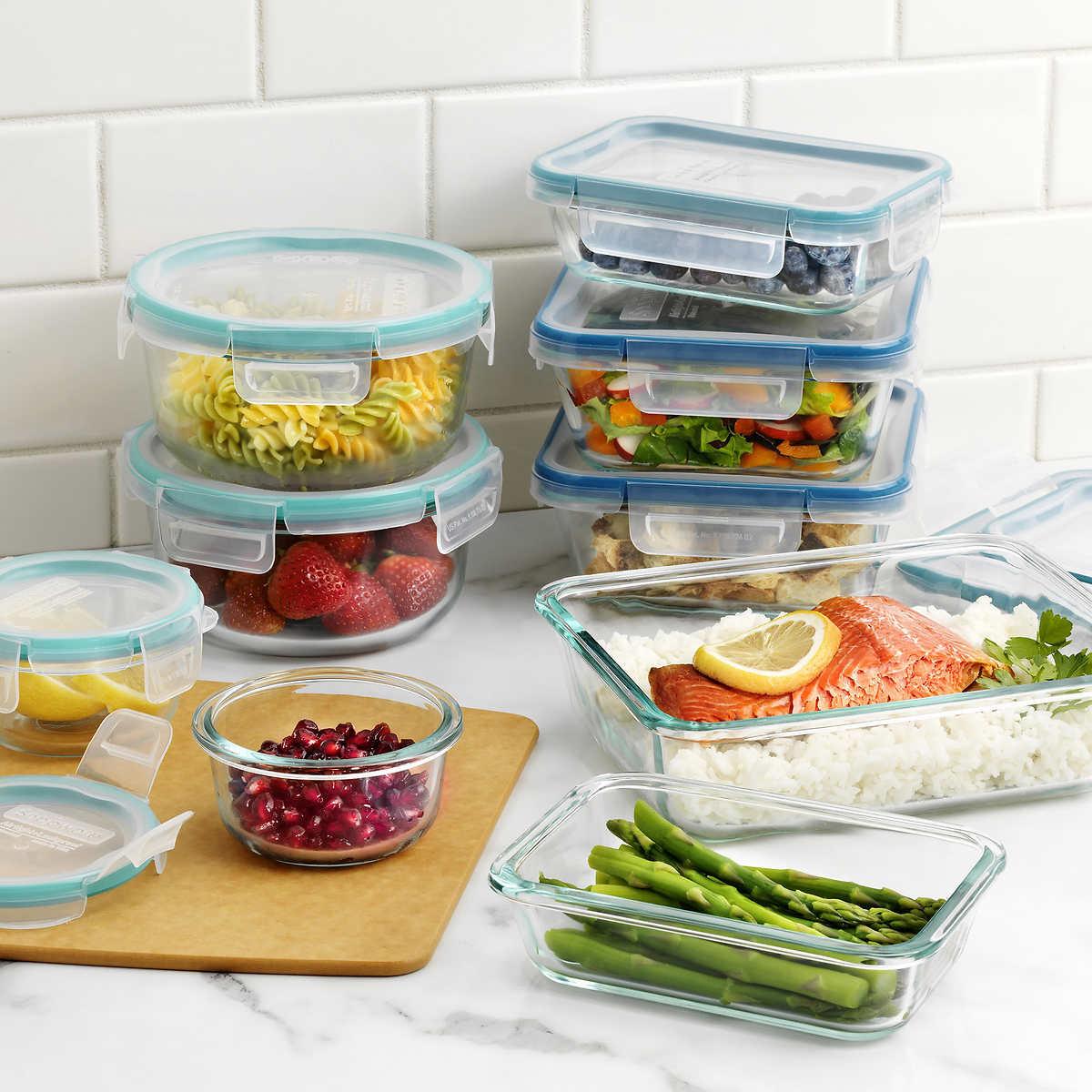 918249f19ddd Snapware Pyrex 18-piece Glass Food Storage Set