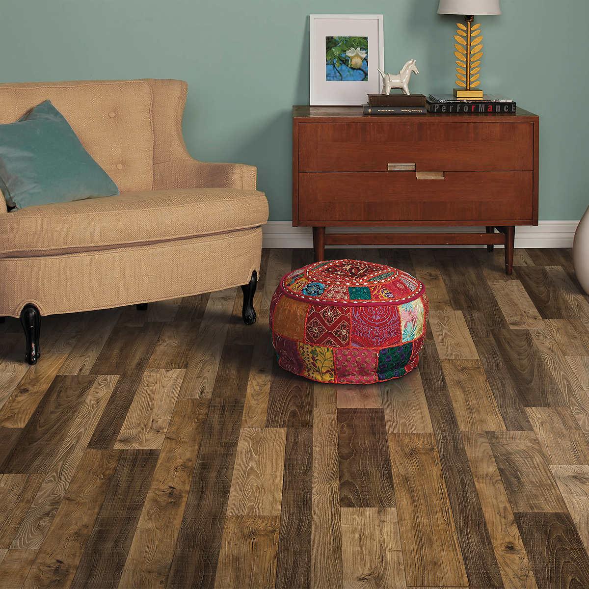 Harmonics Frontier Oak Flooring 22.09 SQ FT Per Box - Laminate Flooring Costco