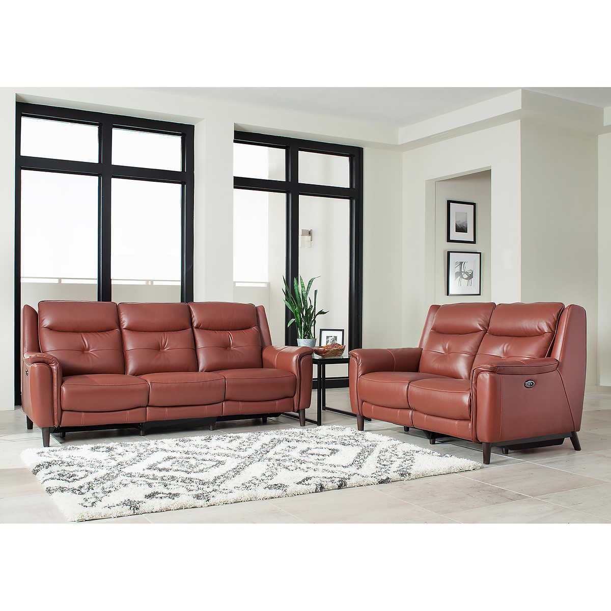 Top Grain Leather Reclining Sofa And Loveseat Hereo Sofa
