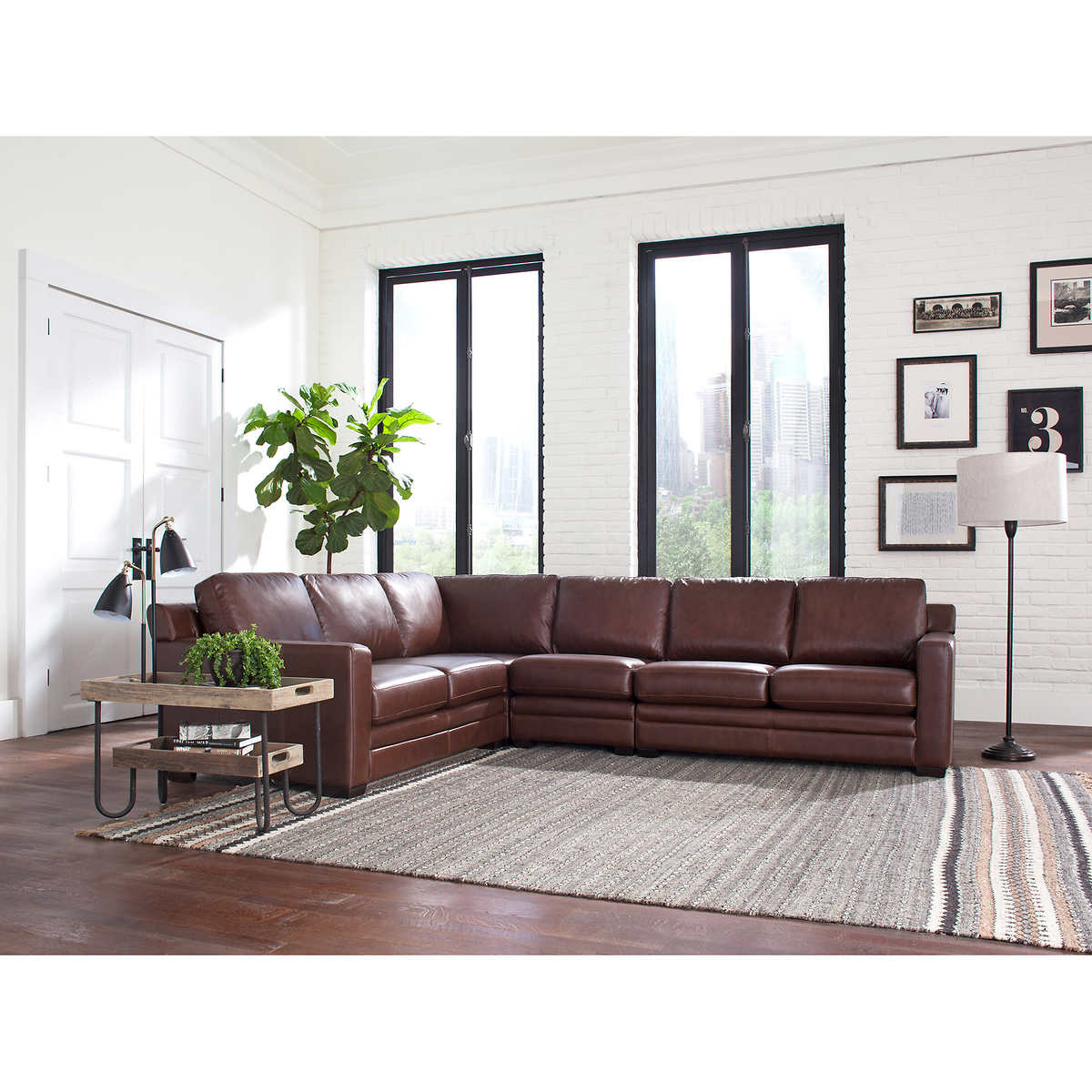 leather sofas  sectionals  costco - mateo piece leather sectional
