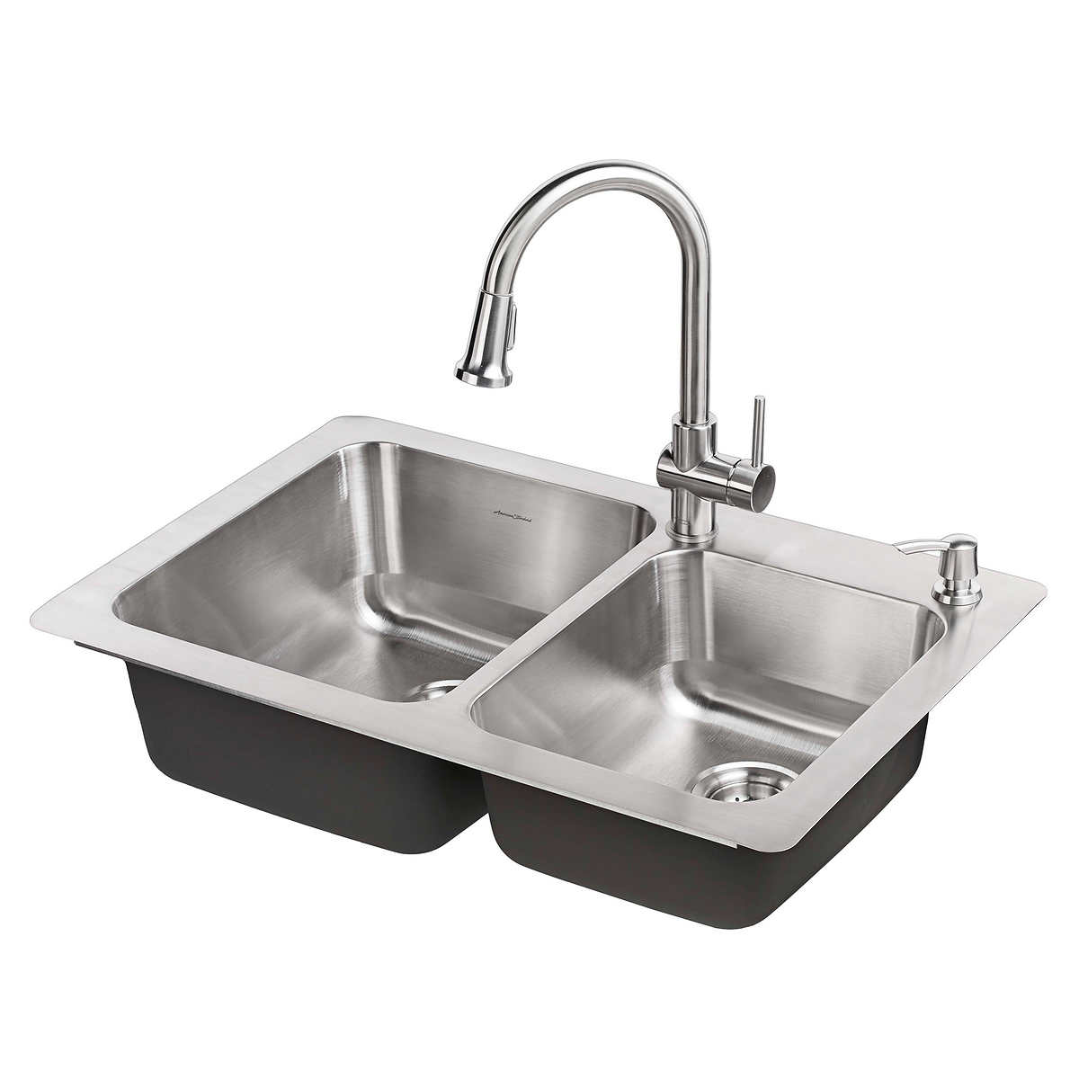 American Standard Montvale Kitchen Sink And Pull Down Faucet Package