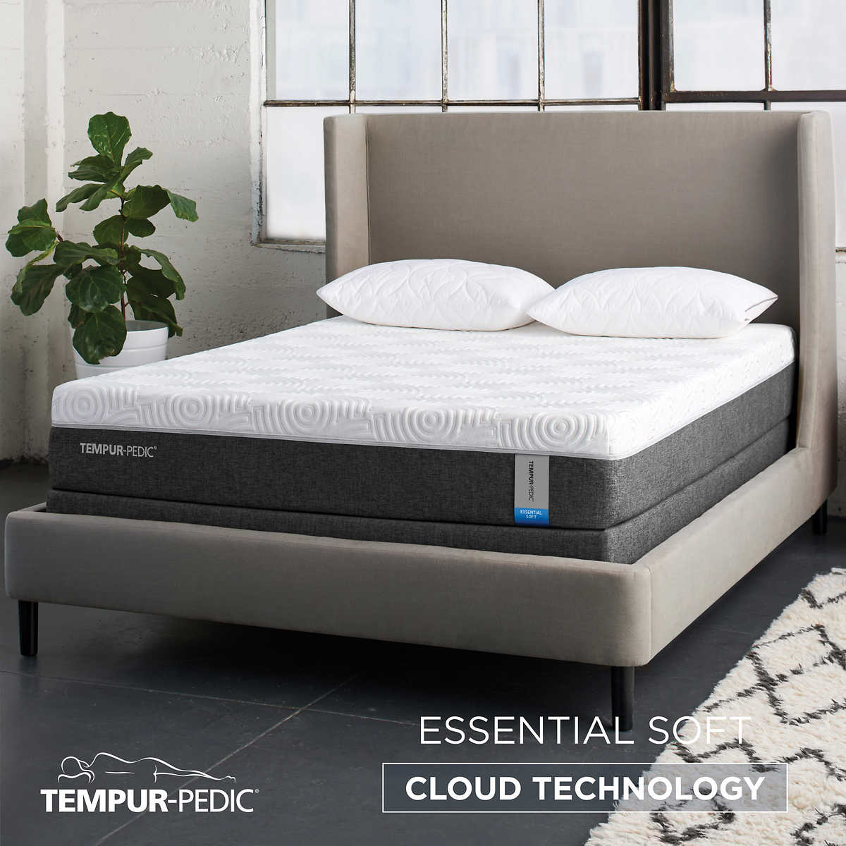 Tempur Pedic Essential Soft 10 Cal King Mattress With Foundation
