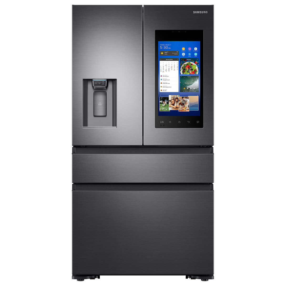 Samsung 22.2CuFt 4-door French Door Counter-Depth Refrigerator ...