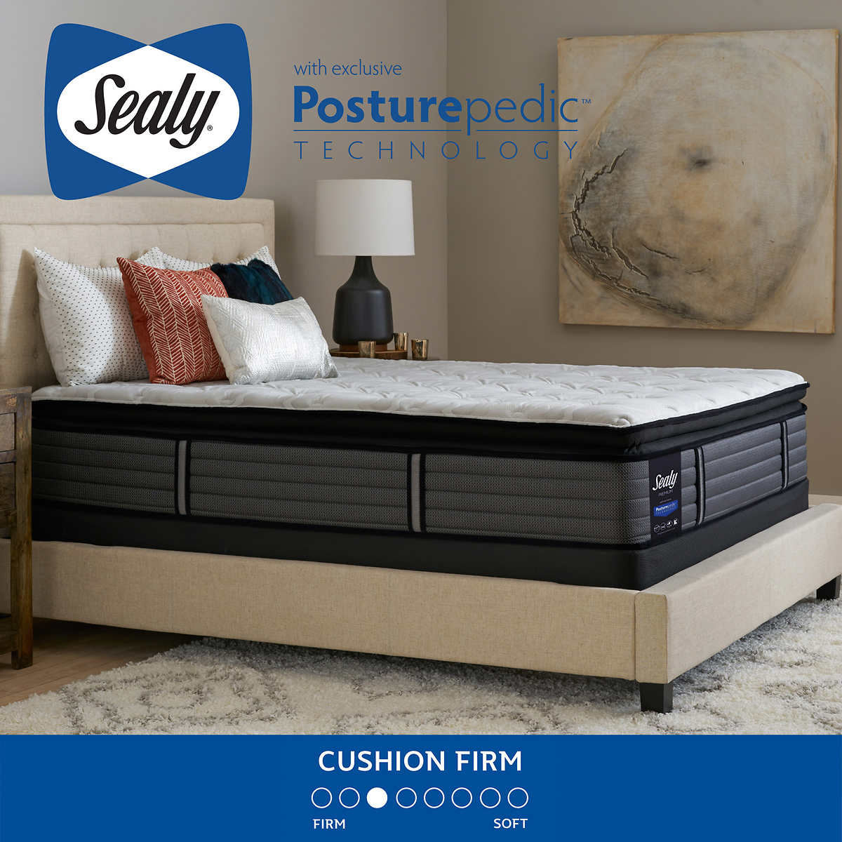 Sealy Premium River Terrace Cushion Firm Queen Mattress Only