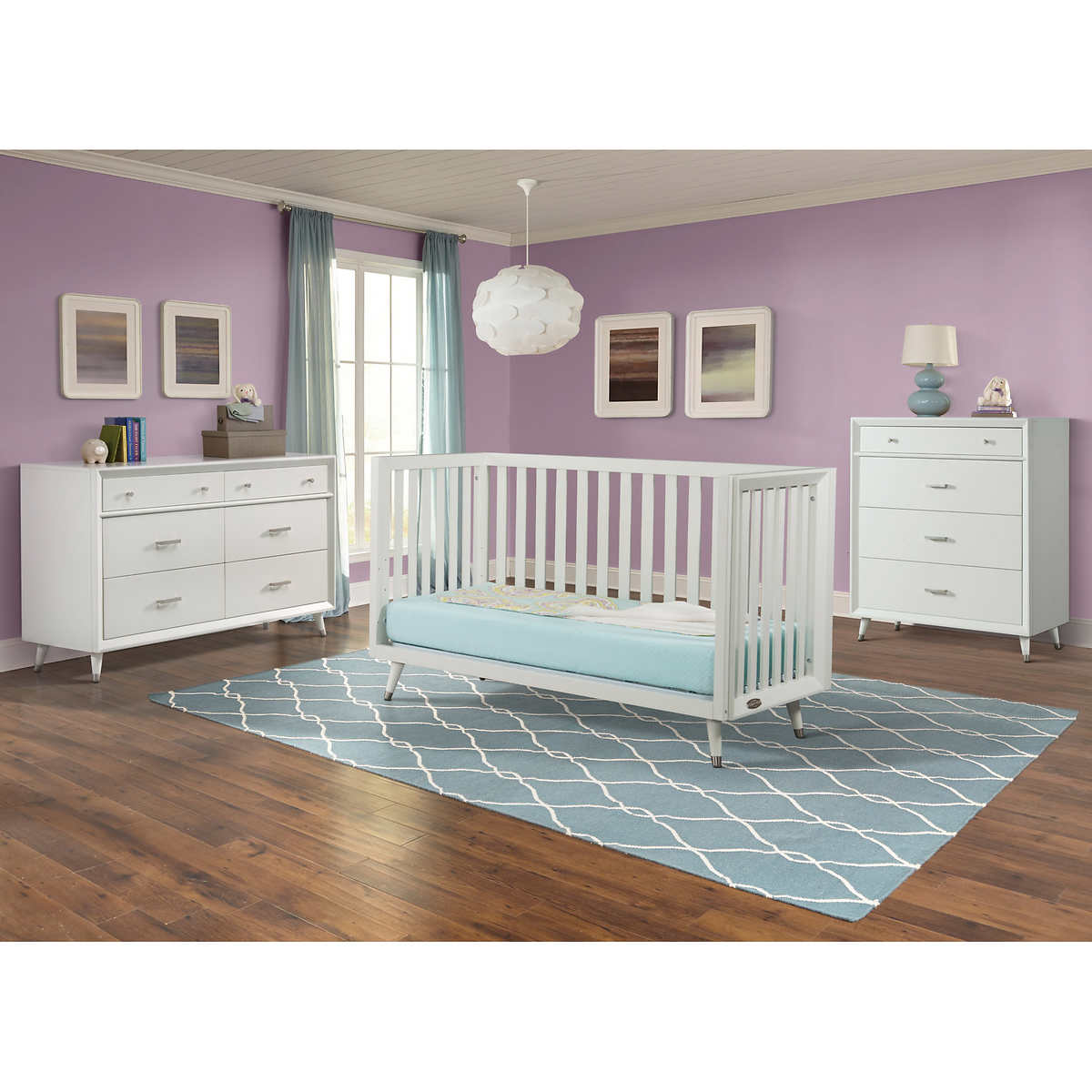White plastic toddler bed costco - Tremont Euro Crib 4 Piece Nursery Collection White